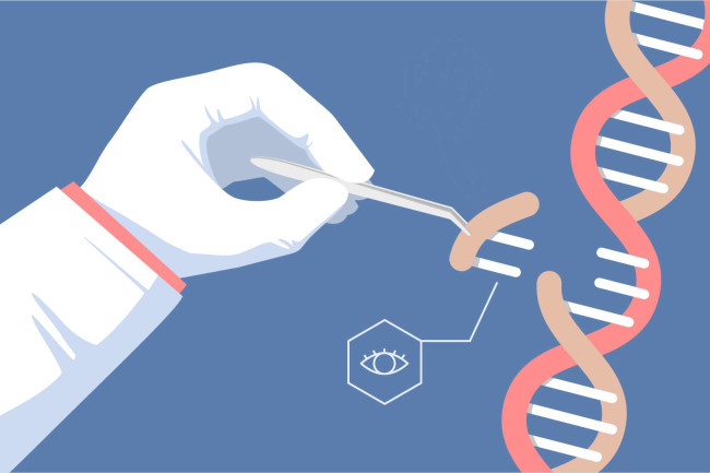 CRISPR eye gene editing illustration - shutterstock