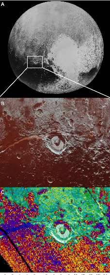 Virgil Fossae, Pluto, Ammonia and Water Ice - NASA