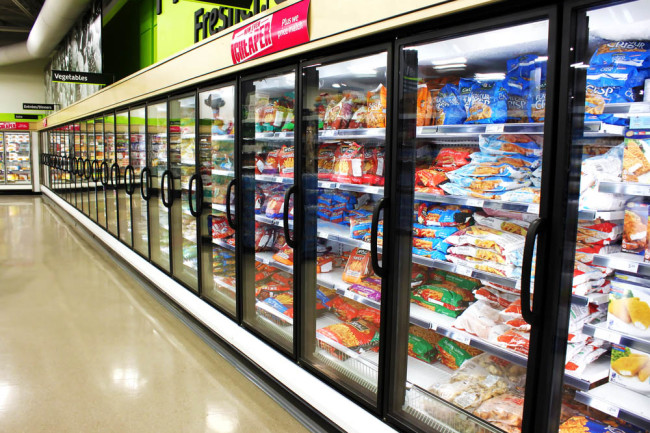 ultra-processed food in a supermarket fridge