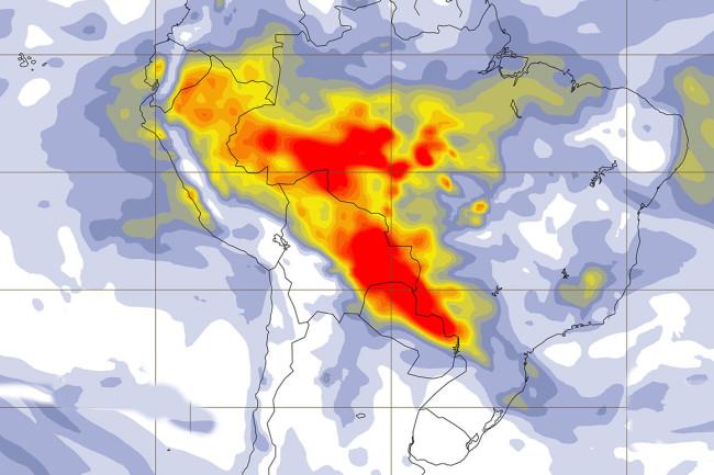Amazon Fires Map - Copernicus Atmospheric Monitoring Service