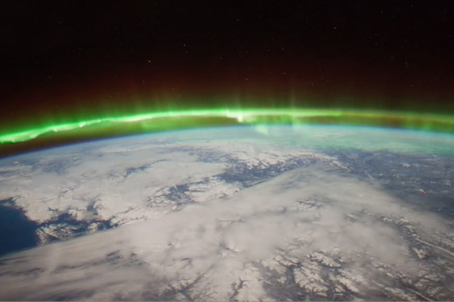 Aurora over the Earth. JPL.