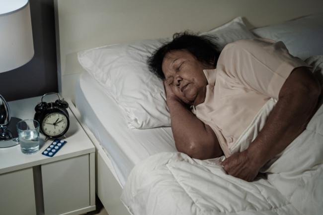 Old Person Sleep - Shutterstock