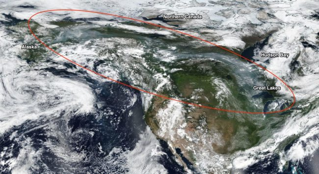 Smoke Over North America - NASA