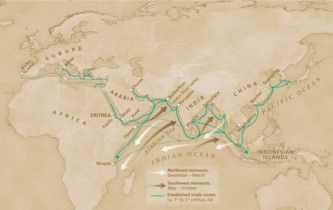 Ancient Indian Ocean Trade Route Map - Discover