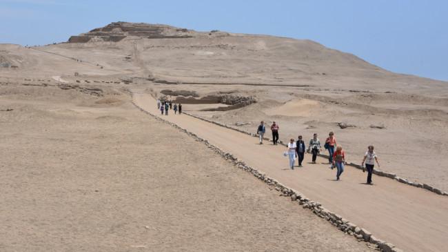 Pachacamac archeological complex near Lima, Peru