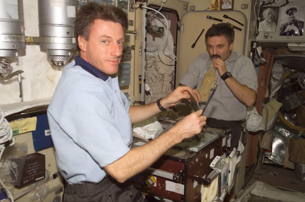 Astronautas de la estación espacial