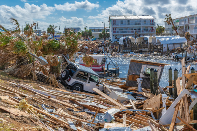 Hurricane Damage after Michael, 2018, Florida - Shutterstock