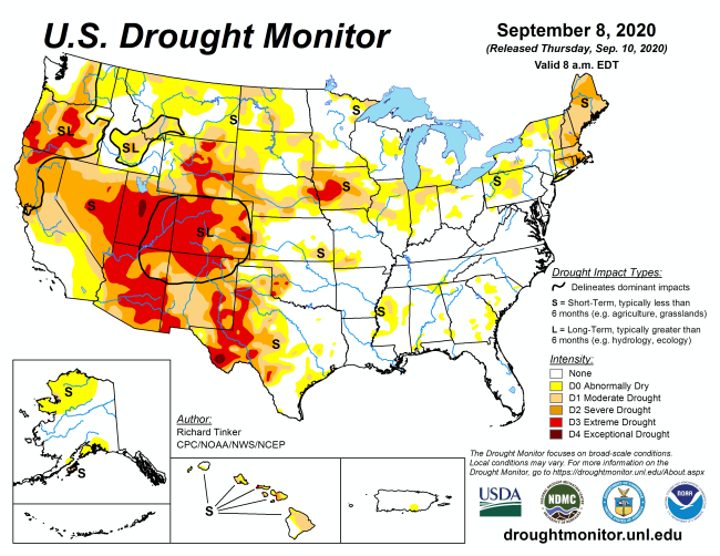 Drought Conditions - U.S. Drought Monitor