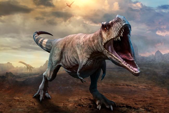 t rex tyrannosaurus rex roar dinosaur - shutterstock