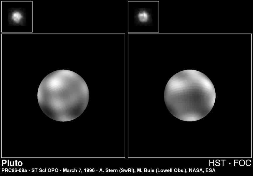 Hubble Pluto Map 1996