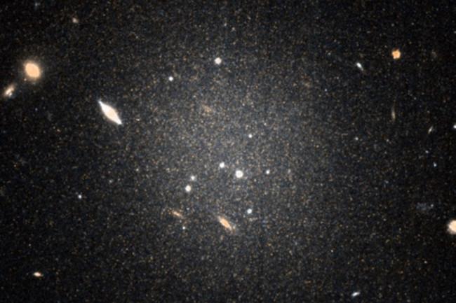 HubbleImageGalaxyWIthoutDarkMatter