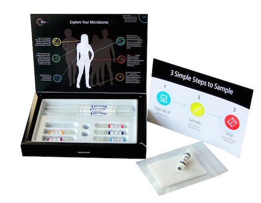 An open test kit from uBiome. (Credit: uBiome)