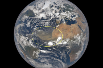Giant Saharan Dust Cloud Blowing Over the Atlantic is Visible From a Million Miles Away in Space