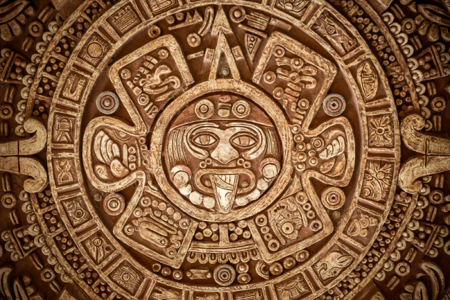 Maya symbols art - shutterstock