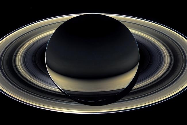 Saturn Backlit - NASA