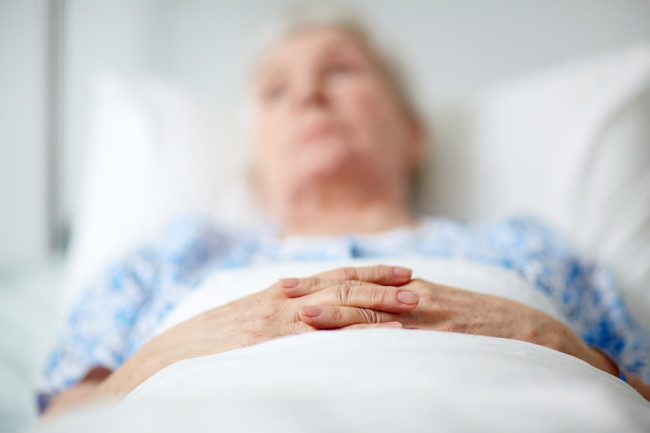 Elderly Sick Ill Old Person Hospital Bed - Shutterstock
