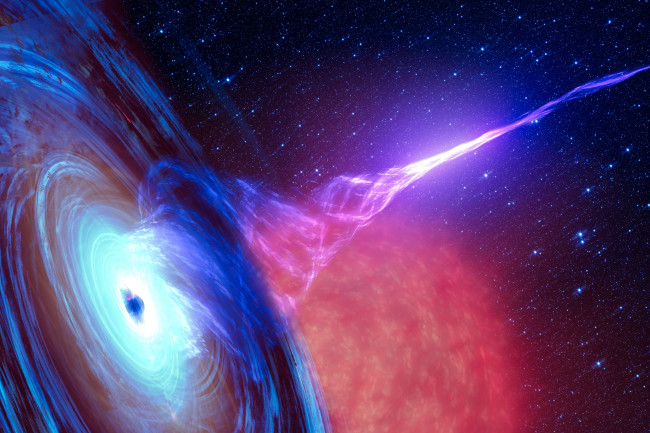 black hole nebula - shutterstock