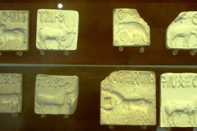 Seals and their impressions from the Indus Valley Civilization, showing undeciphered symbols (Credit: Wikimedia commons)
