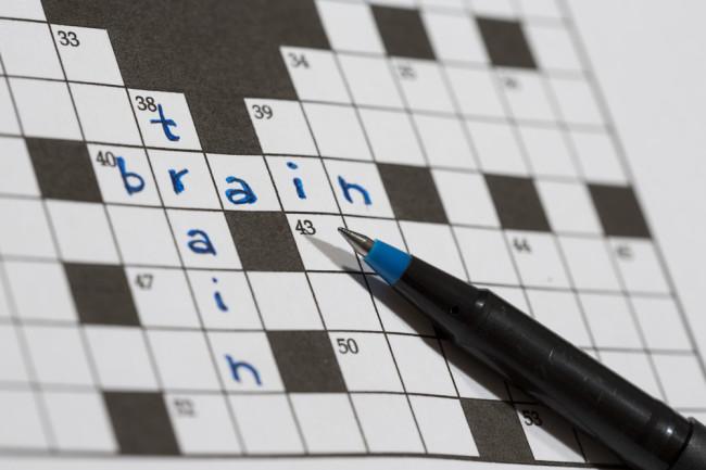 brain game crossword puzzle - shutterstock