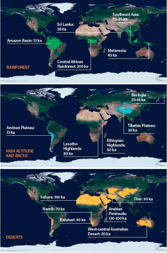 Human Adaptations Maps - Shutterstock