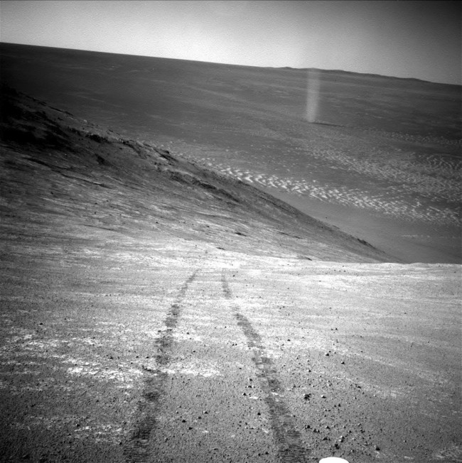Opportunity Rover Tracks - NASA