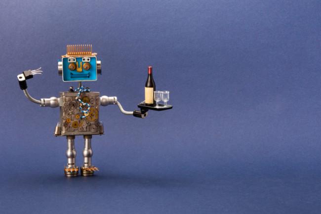 Robot Toy Serving Wine, Waiter, Bartender - Shutterstock