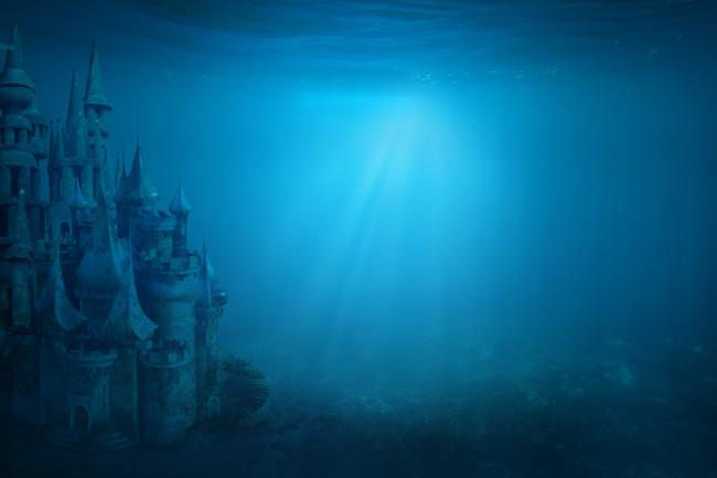 Underwater Castle, Atlantis Concept Art - Shutterstock