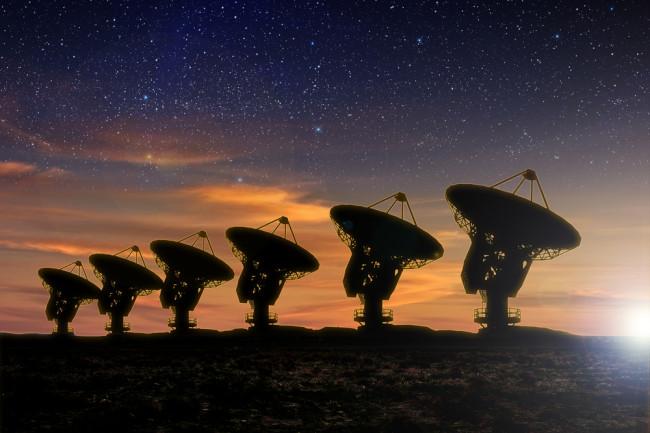 radio telescope looking for signals of alien life - shutterstock