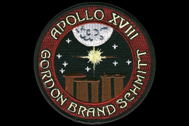 NASA's Apollo 18 mission was ready when it was scrapped by President Nixon. This mission patch, created by space enthusiast Randy Hunt, gives a hint of what could have been.