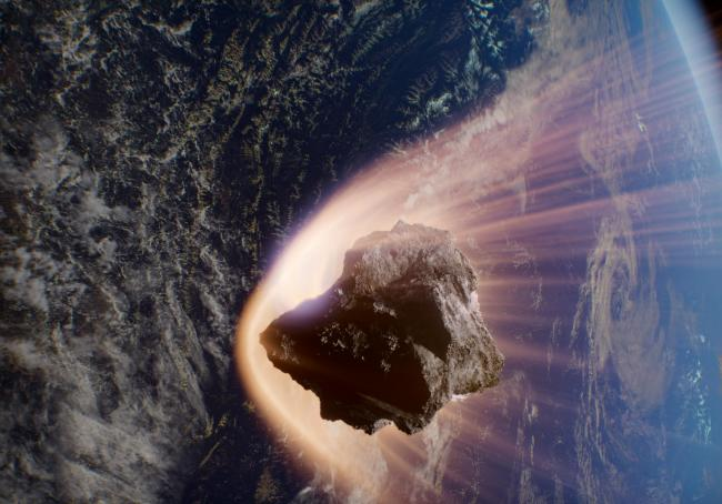 Yeah, let's make sure that doesn't happen: a major asteroid impact as envisioned in the movie Asteroid Hunters (Credit: IMAX/Huahuang Pictures)