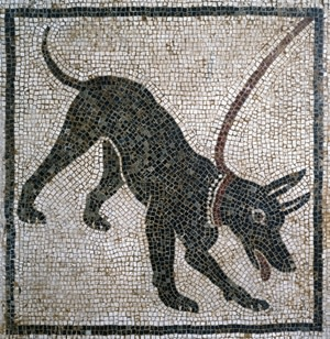 2,000-year-old Dog Mosiac - De Agostini Picture Library
