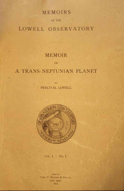 Percival Lowell Memoir