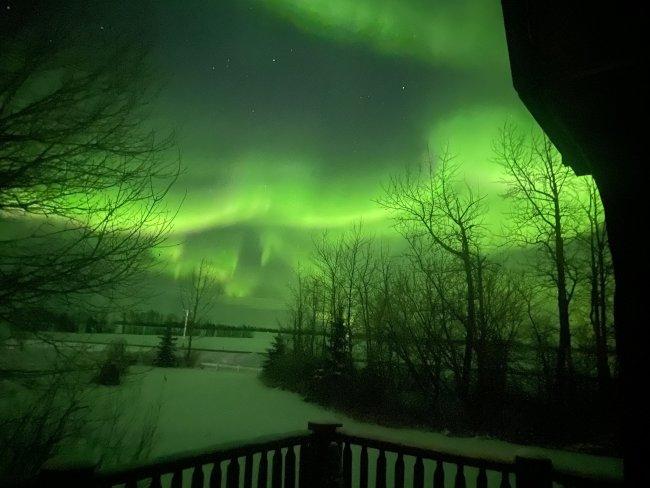 Aurora Borealis in Northern Alberta