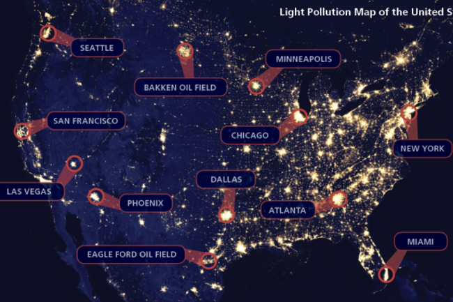 U.S. Light Pollution Map - NASA:Discover