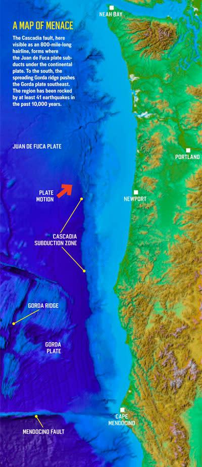Cascadia Fault Infograph - Chris Goldfinger