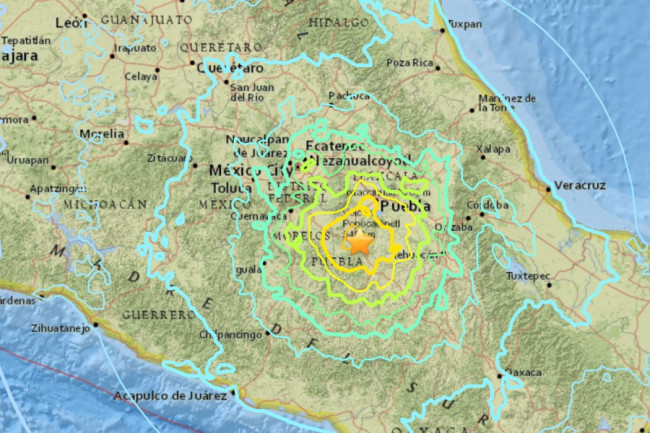 Mexico City Earthquake Map Another Big Earthquake Hits Mexico, This Time Near Mexico City