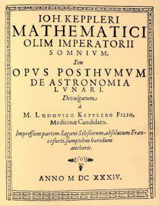 Kepler's Somnium (A Dream) - Wikimedia Commons