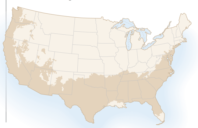 Map of Cork Trees