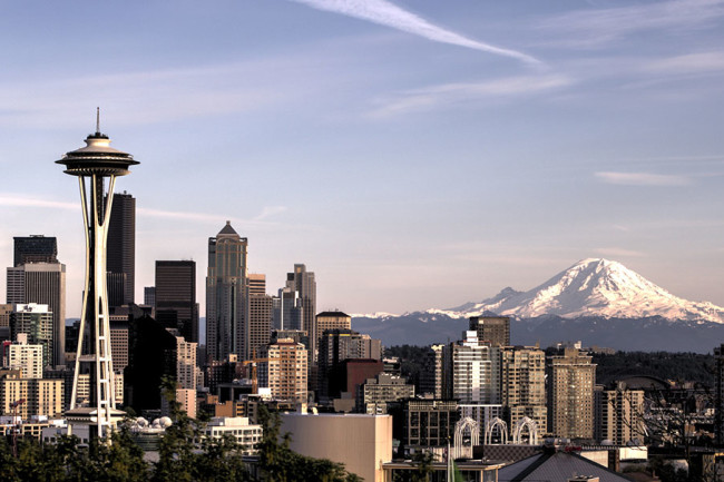 Rainier seen from Seattle - Flickr