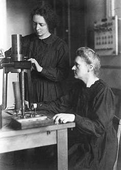 Marie and Irene Curie