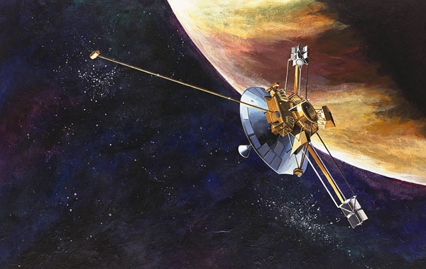Pioneer 10 flies past Jupiter as the first mission to the giant planet. (Credit: NASA on the Commons (Flickr))