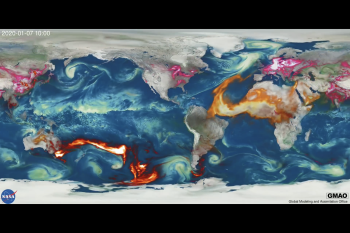 In Psychedelic Colors, This NASA Visualization Reveals the Global Impact of Smoke From Wildfires
