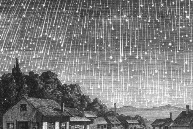 1833 leonid meteor shower