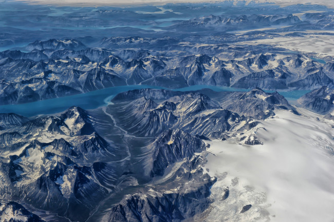 greenland ice sheet from above