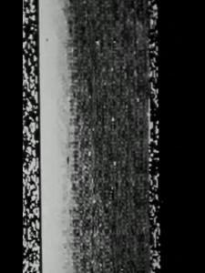 white static on black background