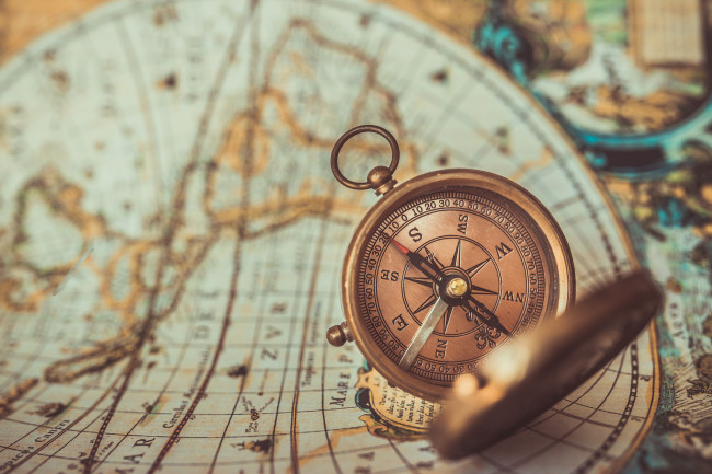 Compass and map - Shutterstock