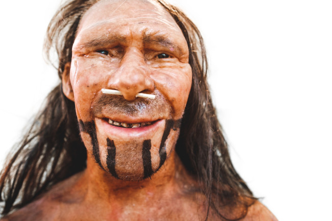 neanderthal face reproduction ancient human - shutterstock