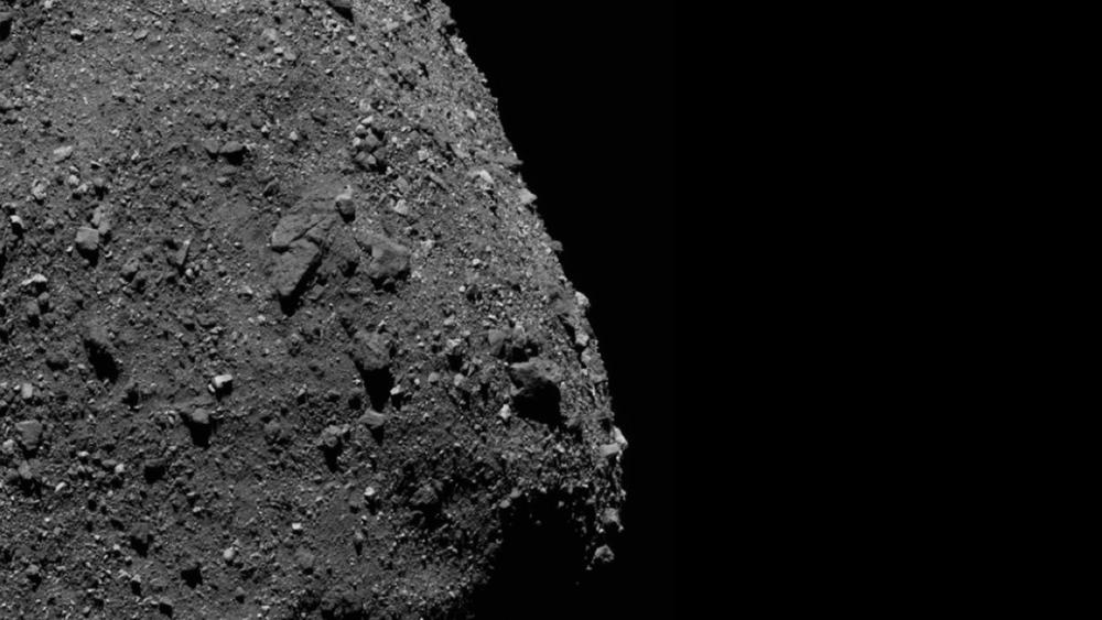 Close up of the surface of Bennu, showing off its odd debris-laden surface. Taken December 2, 2018 by OSIRIS-REx. NASA.