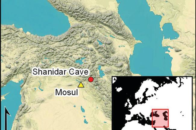 Shanidar map