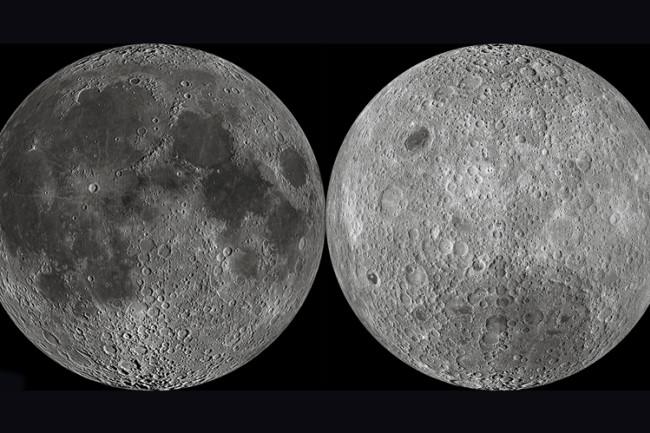 Moon, Front and Back - NASA
